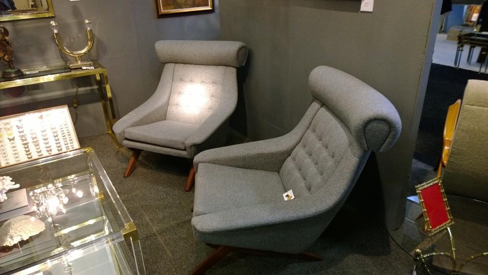 Pair of 1950s Danish armchairs