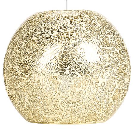 Champagne mosaic lighting pendant, £17