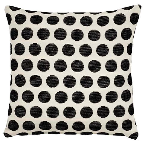 Black spot chenille cushion, £4