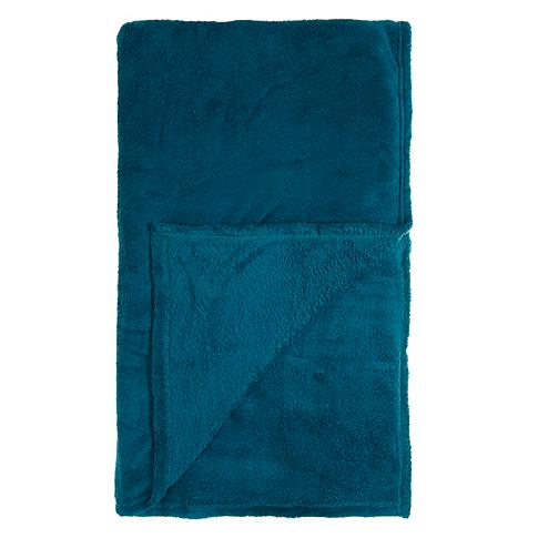 Micro plush throw in Teal, £5