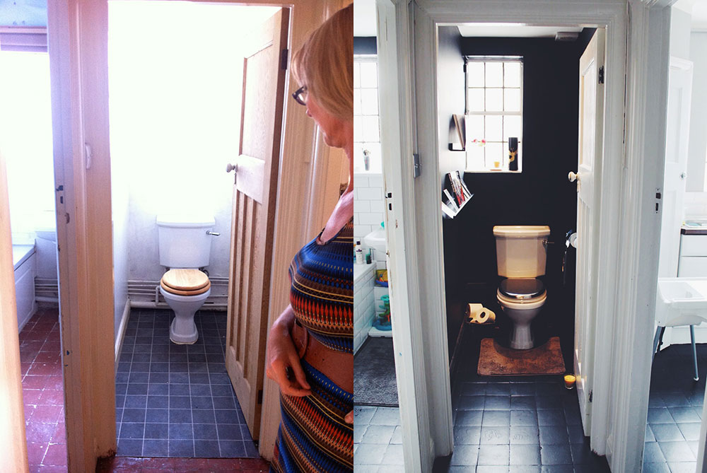 Before after toilet room sarah akwisombe - How long does it take to become an interior designer ...