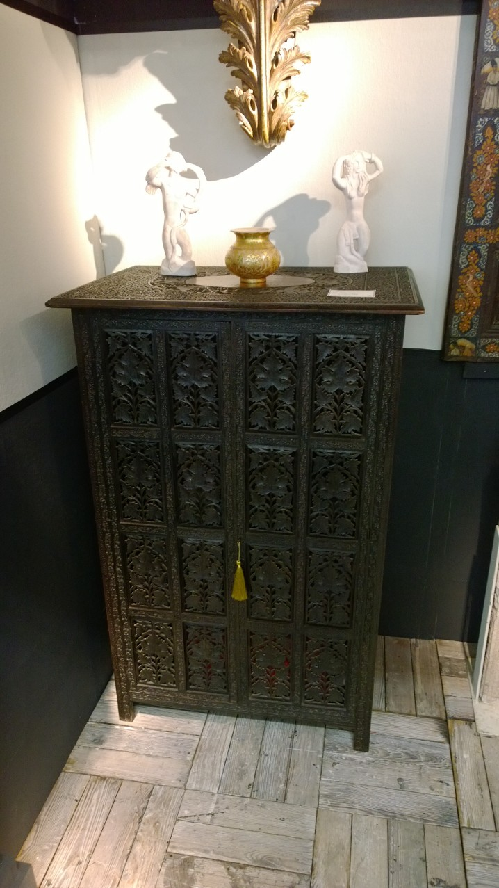 Brilliant carved Indian cupboard, circa 1880, from Robert Barley.