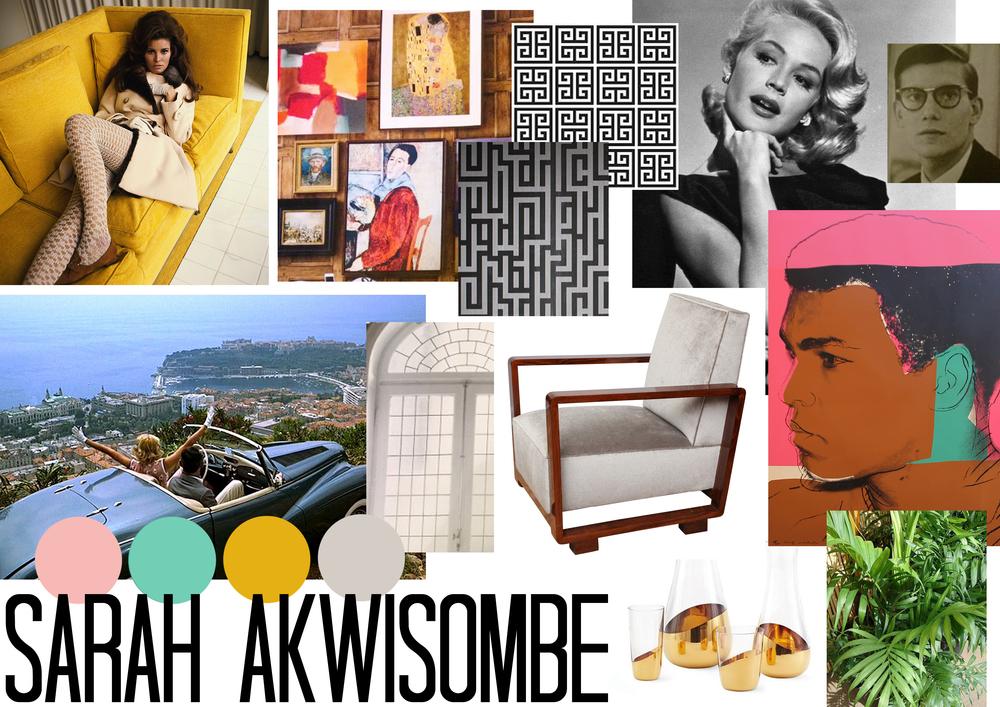 Personal Style Board KLC Interior Design Diploma Sarah Akwisombe