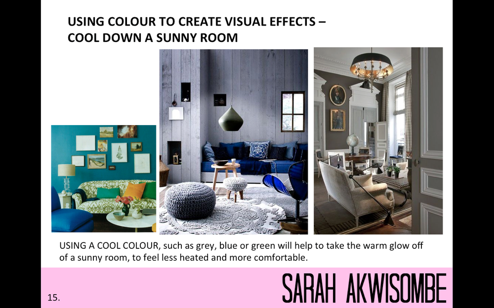 using colour to cool down a room