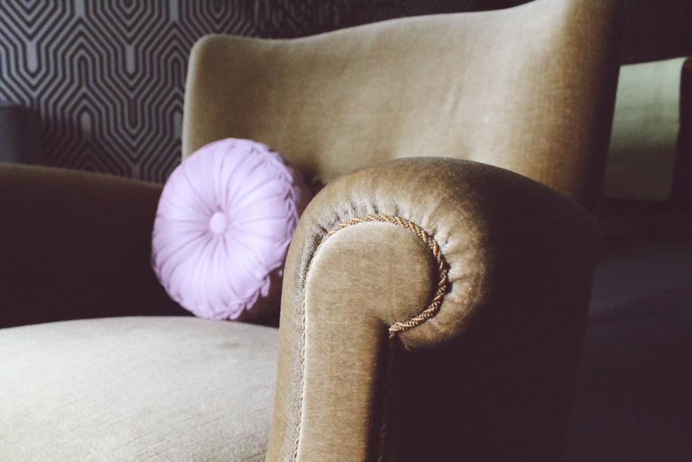velvet midcentury danish armchair