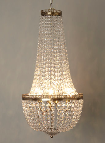 Esmerelda 3 light chandelier, £200, BHS