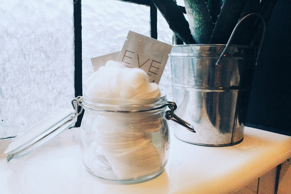 bathroom styling cotton pads