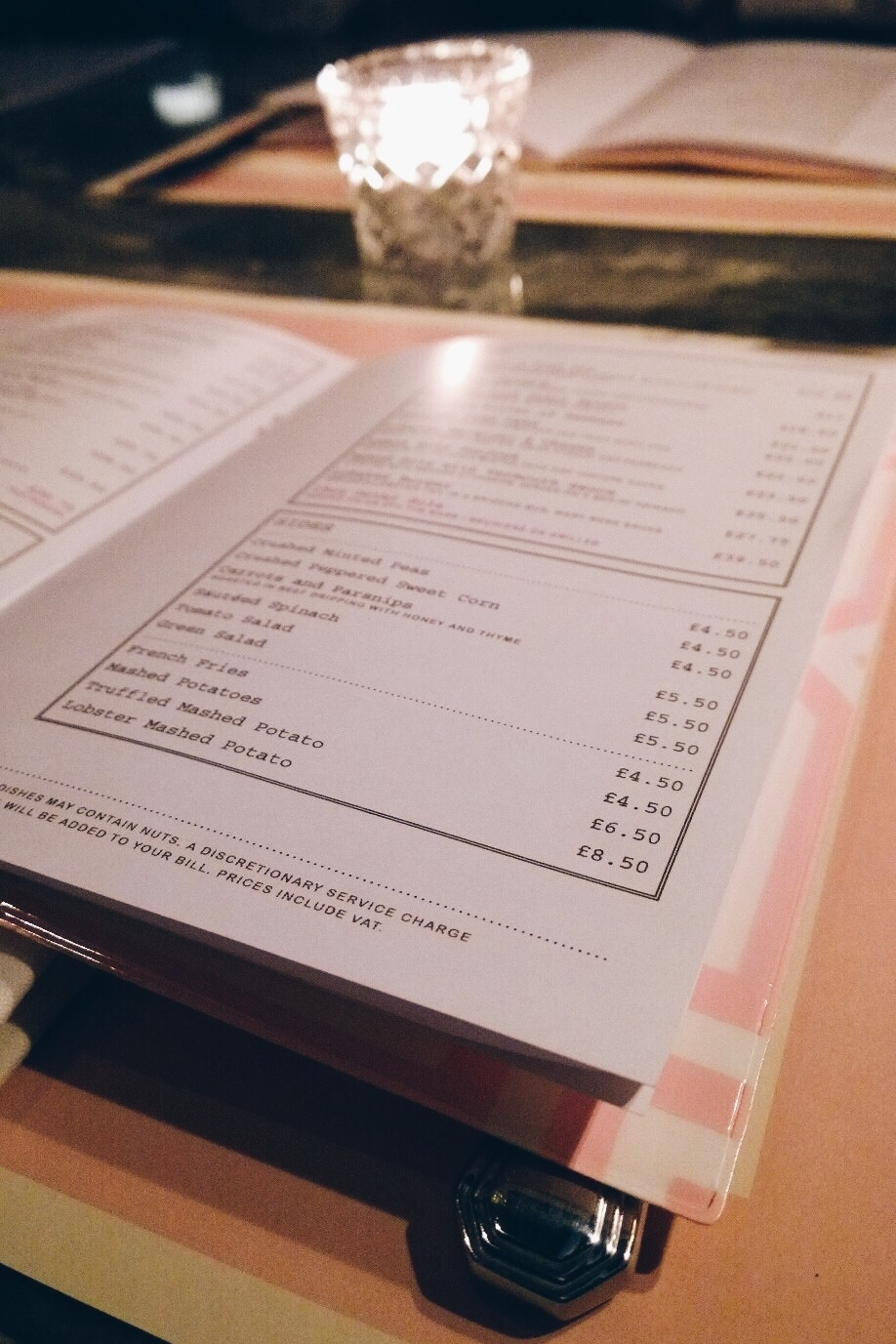 bob bob ricard london menu