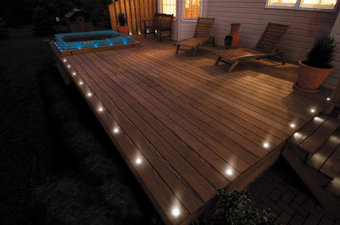 inbuilt decking lights