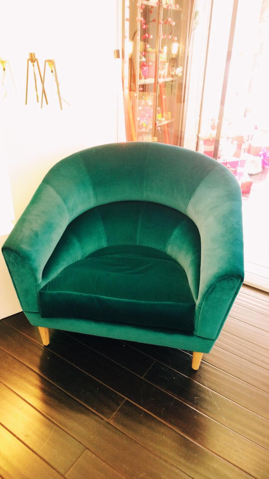 Heals turquiose armchair