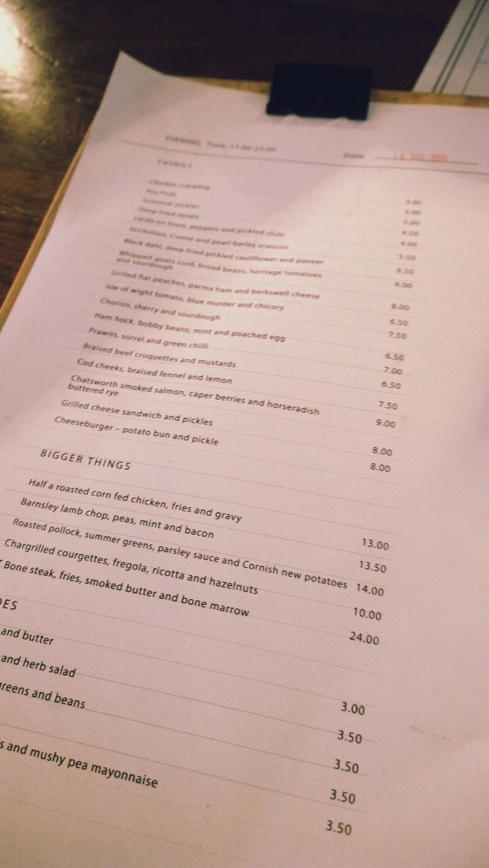ask for janice menu