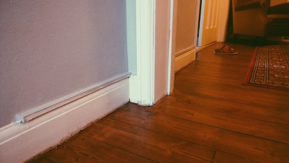 sanded and polished floorboards