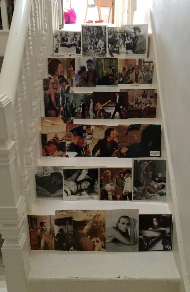 DIY vintage photo stairs