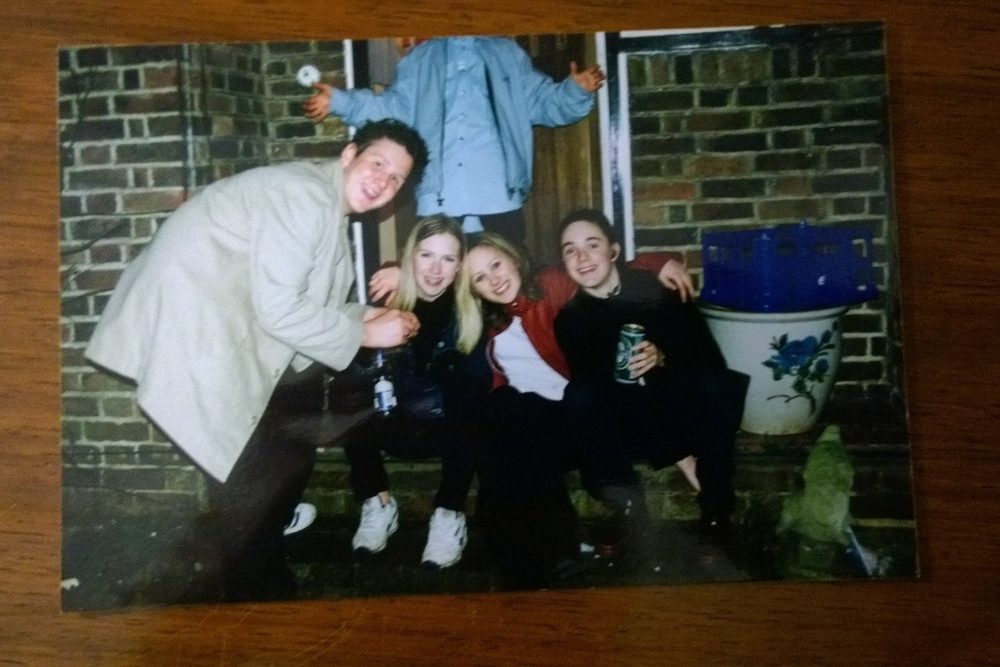 The chip shop days. This was new years eve 1999. That's right, I chose to spend the millennium on a doorstep, rolling a spliff.