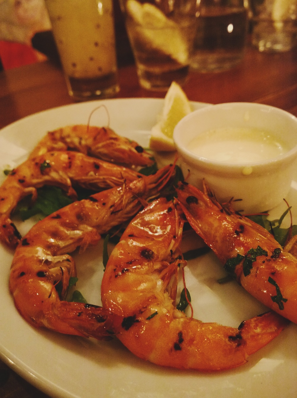 Bsoho christmas menu prawns