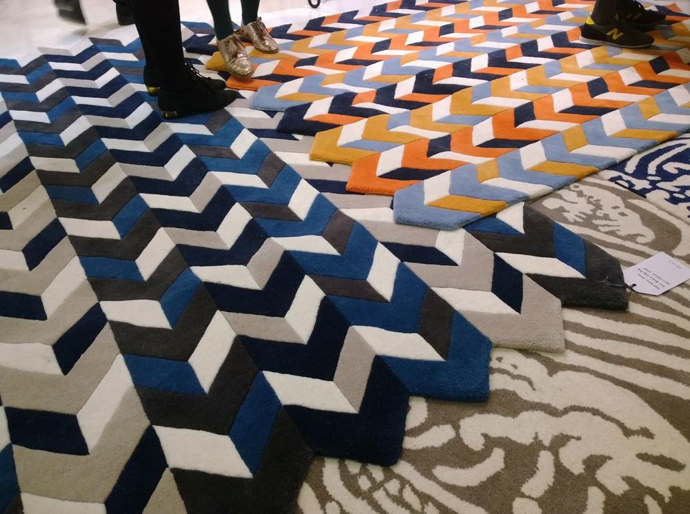 geometric print rug