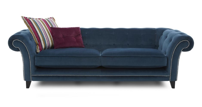 Dusty 4 seater sofa, £1598 in Teal.