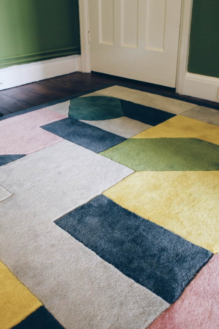 geometric art deco rug