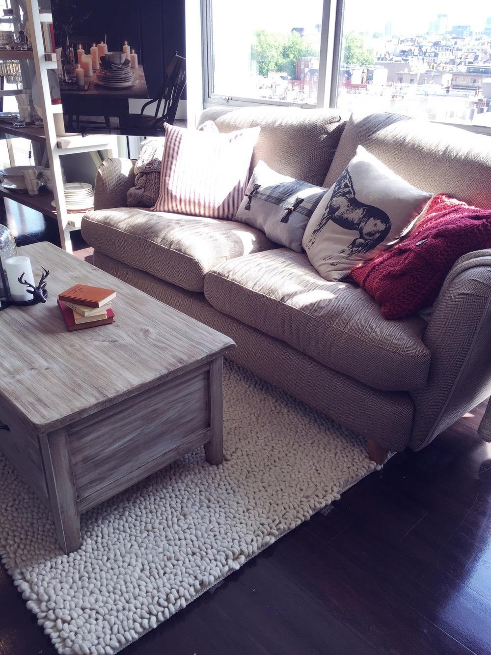 tweed sofa