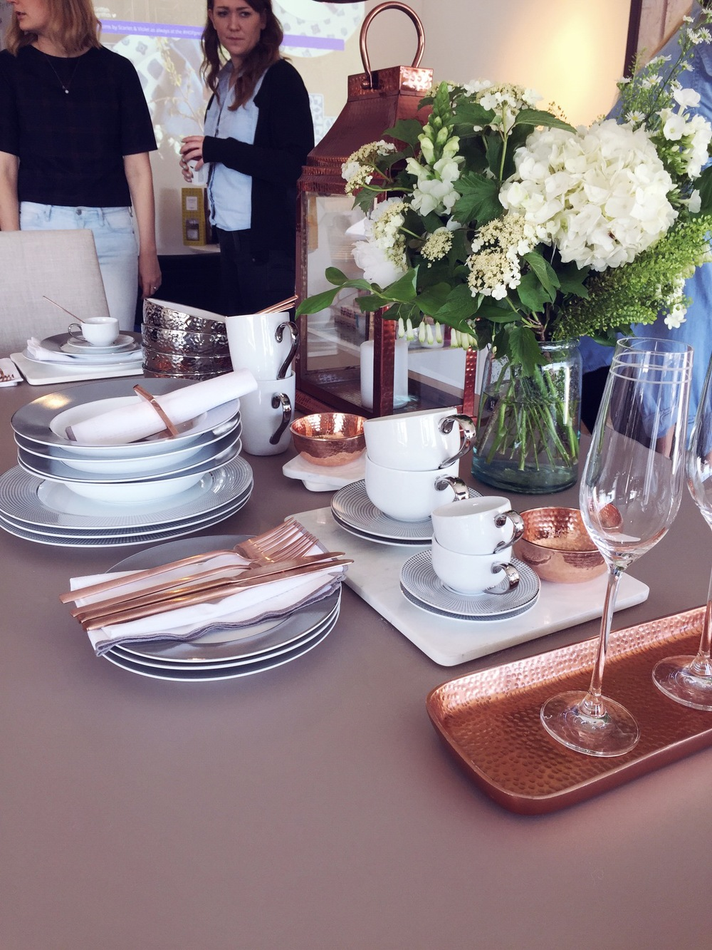copper dinnerware