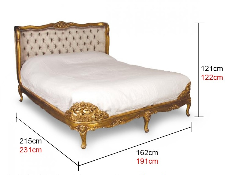 french gold bed