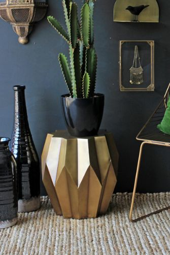 15 statement making gold side tables available online now for Table zara home