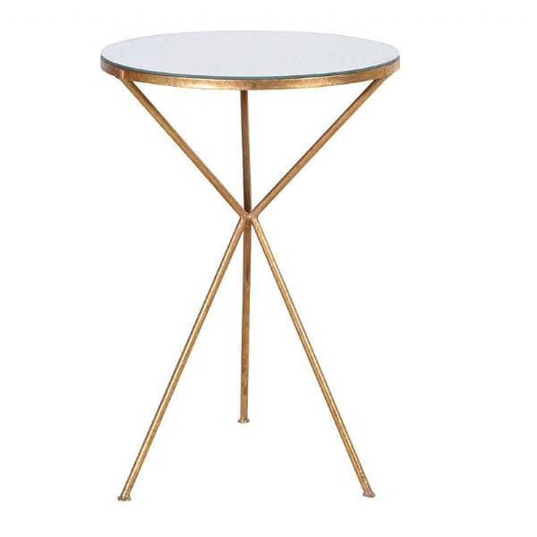 15 statement making gold side tables available online now for Round gold side table