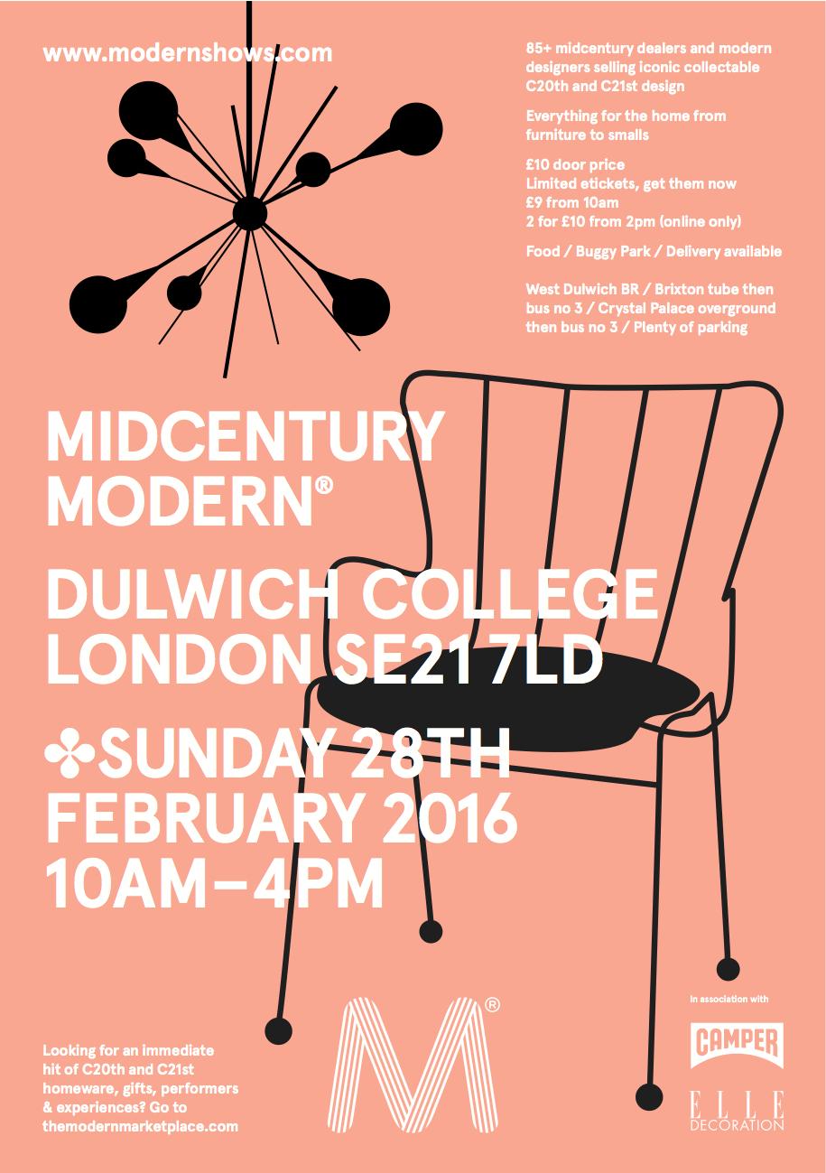 midcentury modern furniture shows
