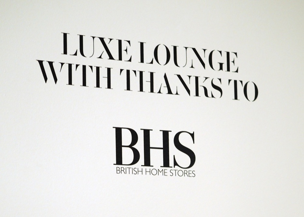 London fashion weekend luxe lounge