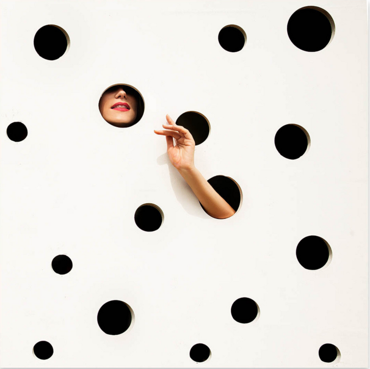 polka dot artwork