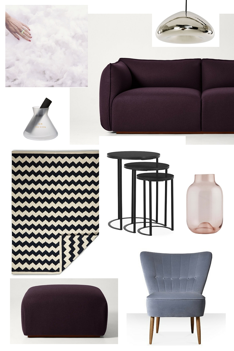 AN AUBERGINE AND LILAC LIVING ROOM LOOK PLUS A GIVEAWAY WORTH £229 ...