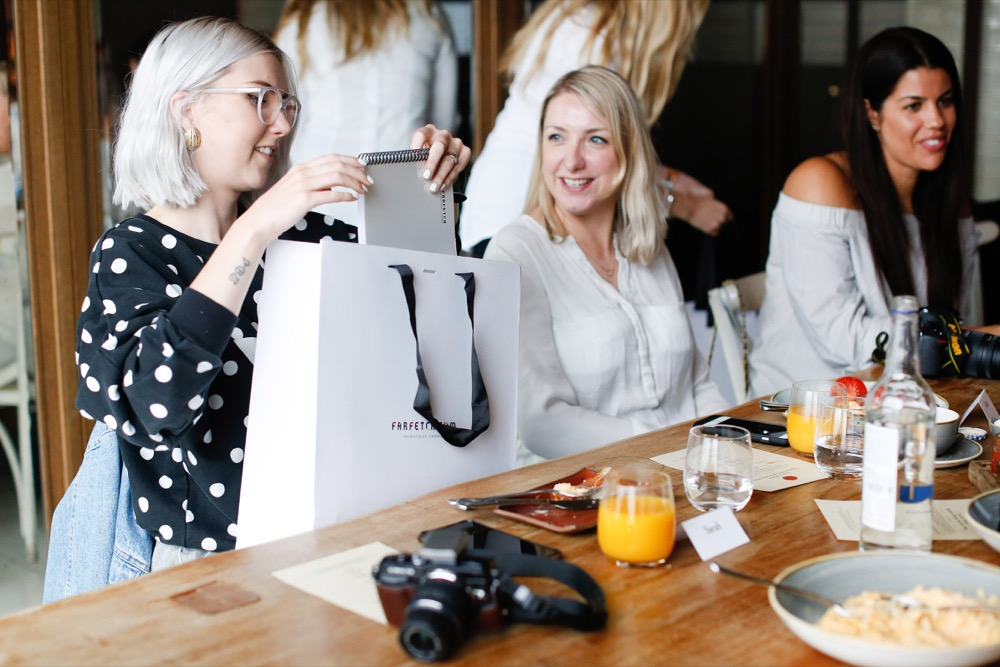 blogger event farfetch