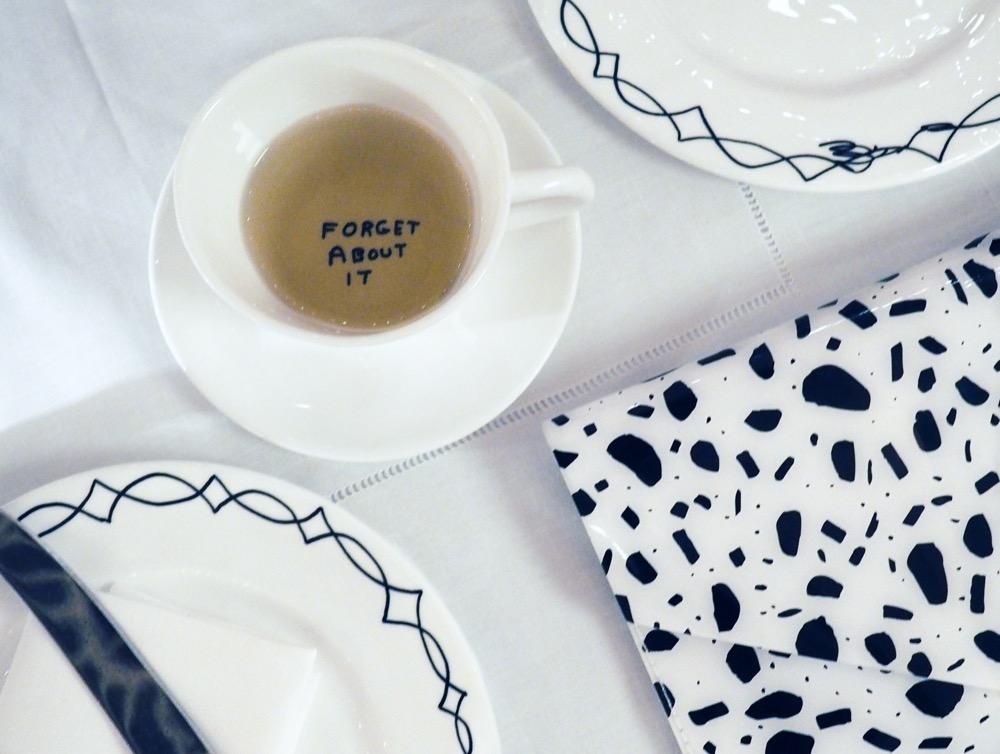 flatlay teacup