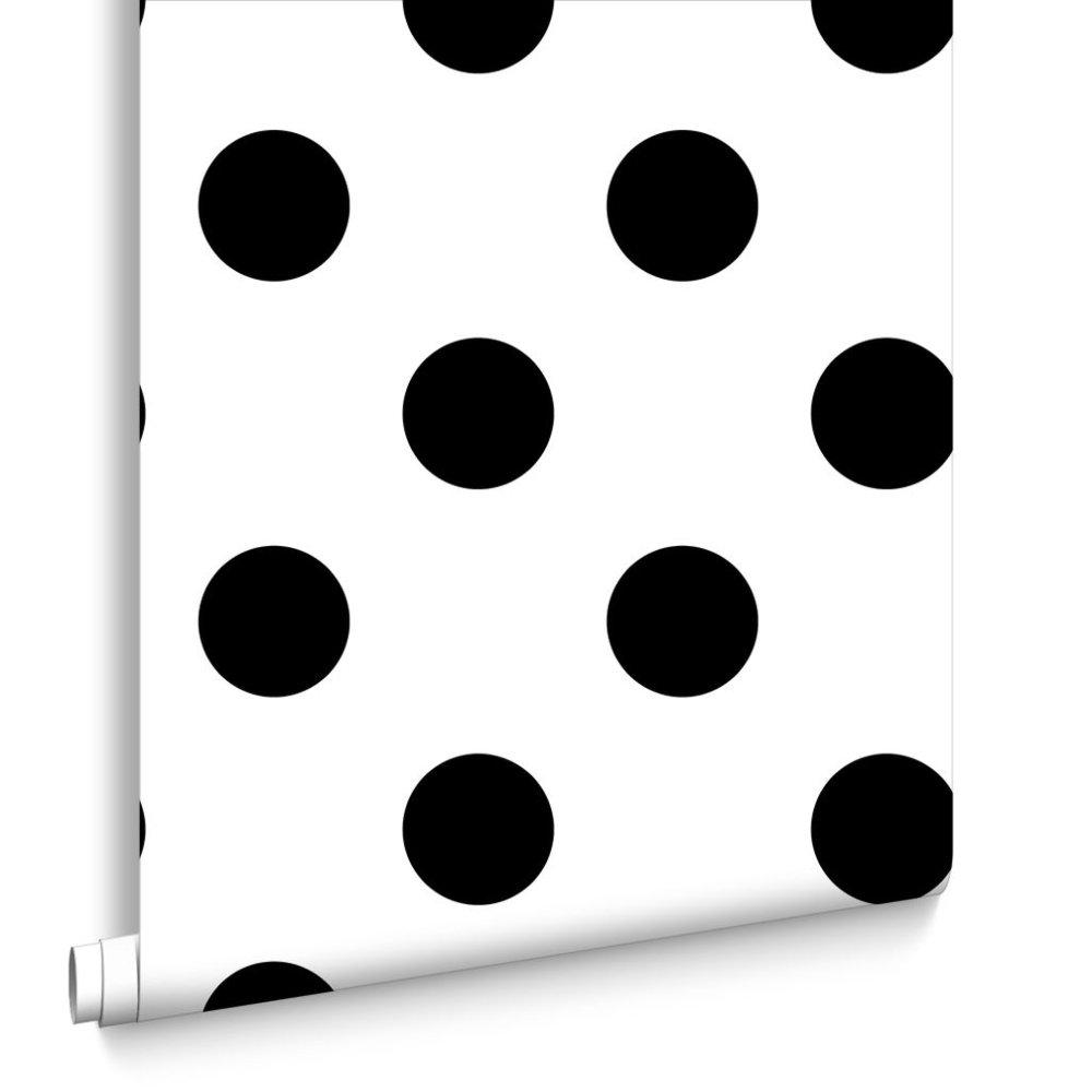 Dotty Black, £12.99 a roll
