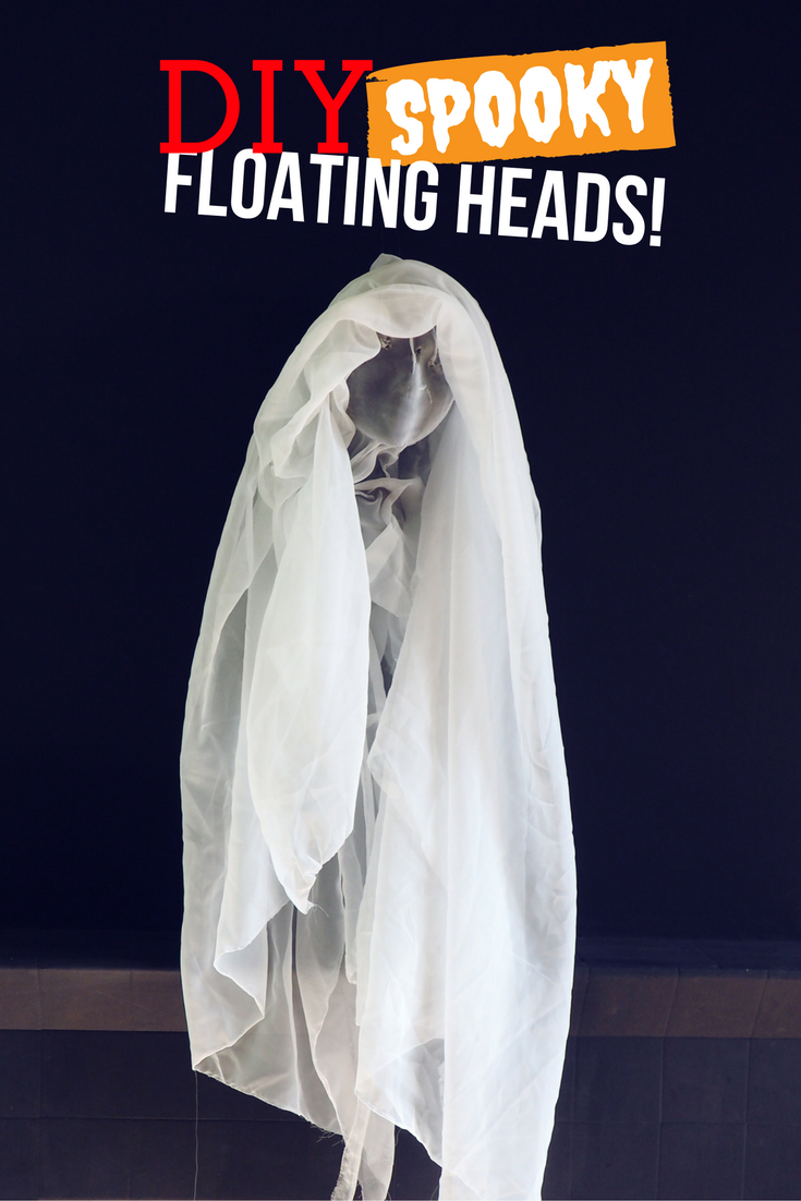 I'm literally the worst person at crafting. I totally suck. So if I can create a craft project that looks half decent then you can too! Here's a quick and easy DIY halloween decorations tutorial for some spooky floating heads.
