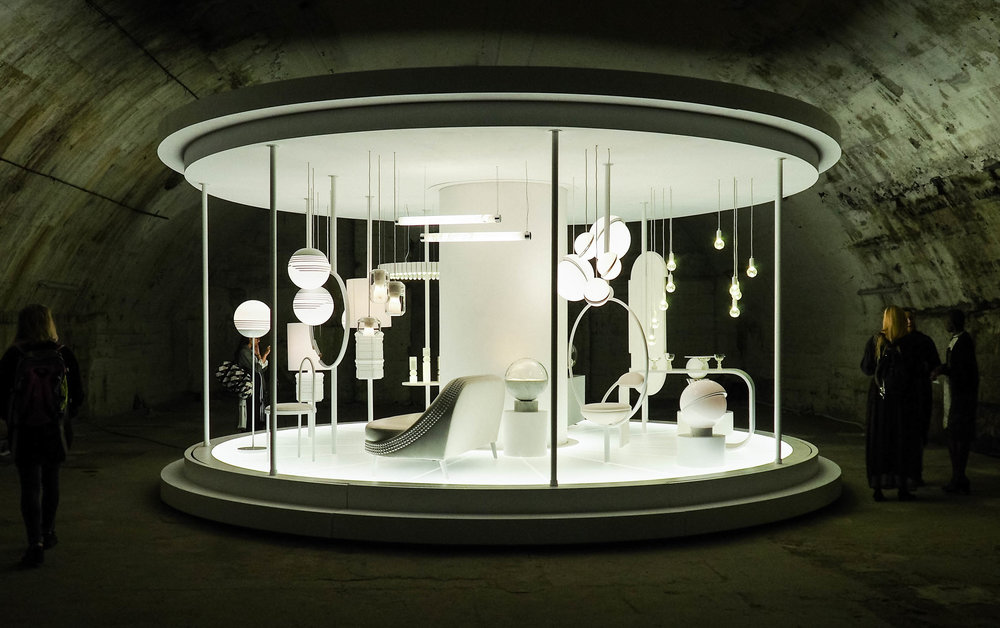 A look at Lee Broom's installation at Milan Design Week 2017.
