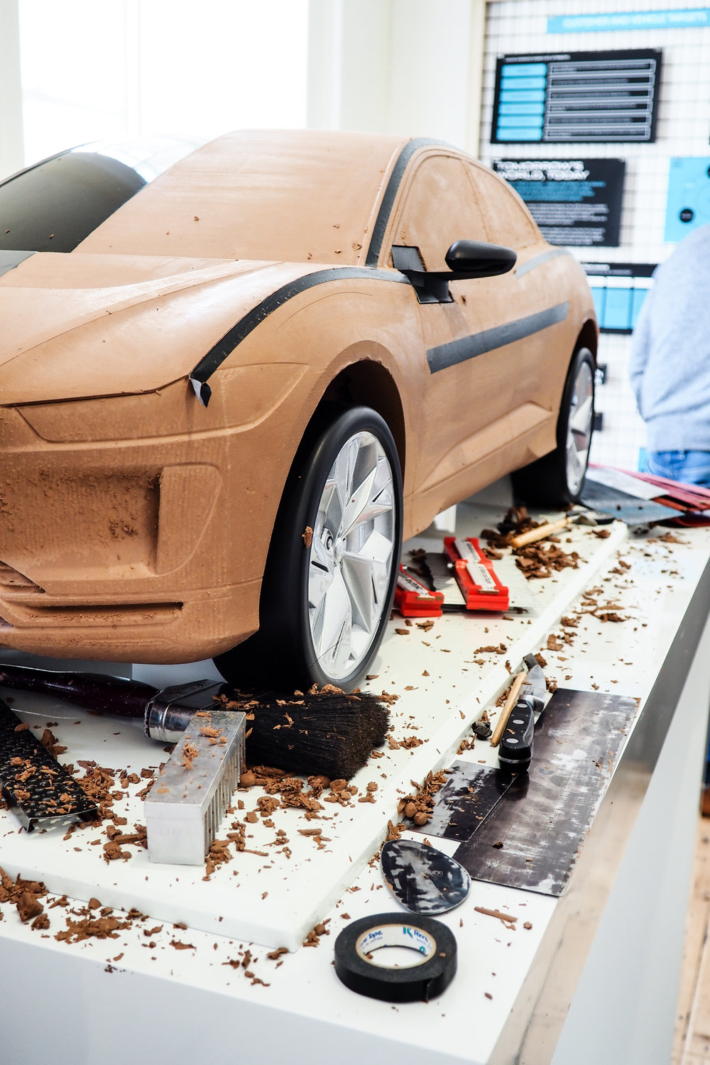 6. how jaguar design - showing how a car is crafted from a giant lump of plasticine