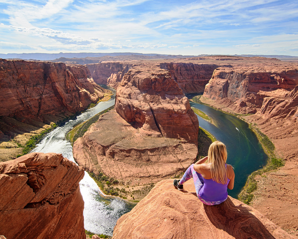 "- From the Highway 12, we hit Highway 89 back down to Lake Powell and stopped at Horseshoe Bend to take a look from above. It's a short walk up and down a small hill to the canyon edge where you need to dodge tourists like you're at Disneyland. At the edge we found tourists on the edge taking selfies, doing yoga poses, and sitting with their legs dangling. I took my pictures and thought it was truly a beautiful view. But what you do not see from the pictures of Horseshoe Bend is the lines of crazy tourists turning into stuntmen and getting their ""social media"" pictures. I had to leave fairly fast because I didn't want to see someone slip off this canyon wall while doing a handstand or something absurd."