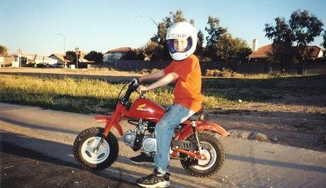 My first motorcycle at 7 years old