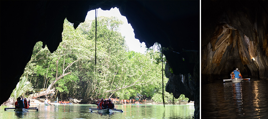 palawan philippines cave underground river boat
