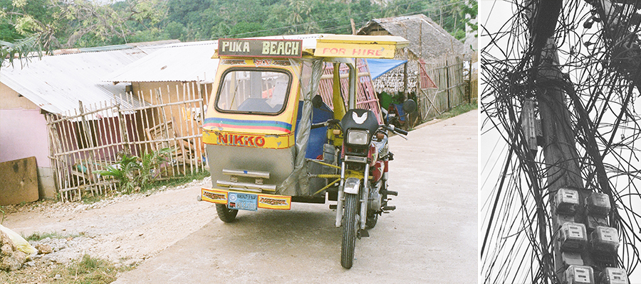 boracay philippines beach travel washington dc photographer film tuktuk powerlines tricycle
