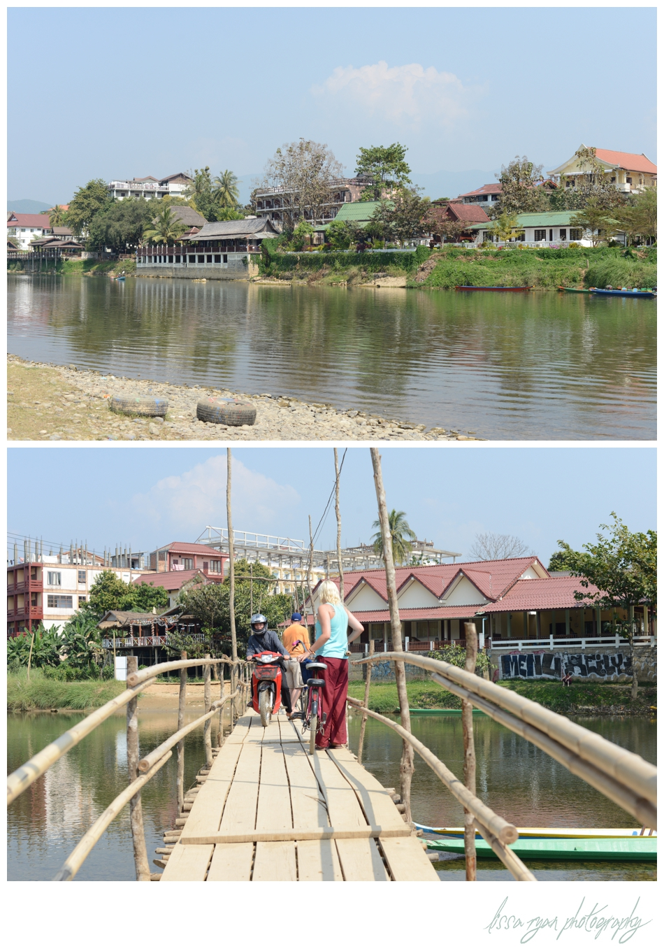 Vang vieng Laos bikes bridge