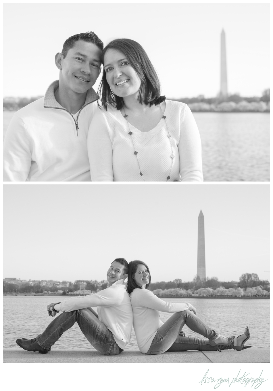 cherry blossom tidal basin washington dc engagement lissa ryan photography