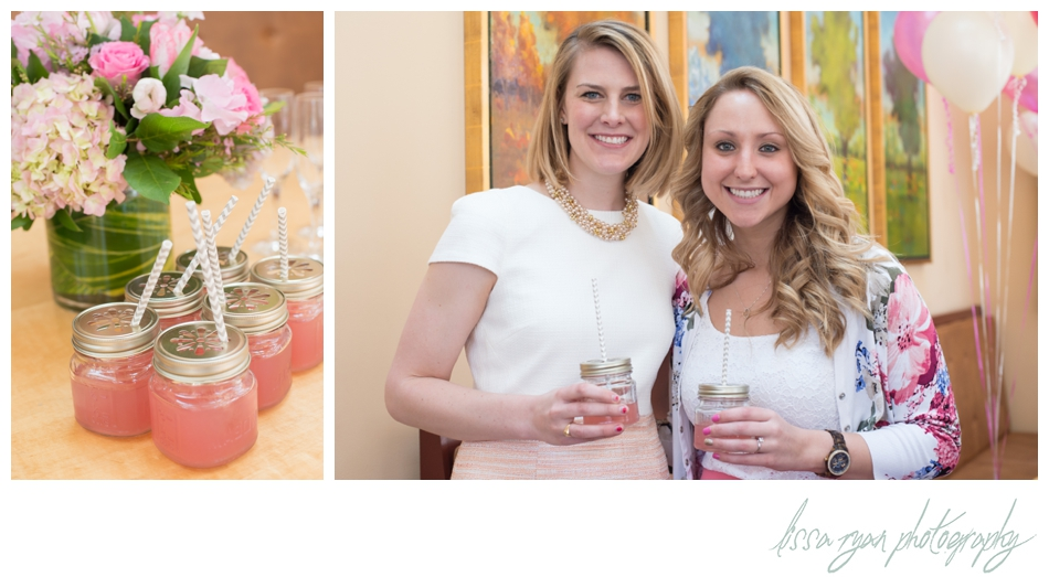 pink bridal shower trummers on main clifton va lissa ryan photography