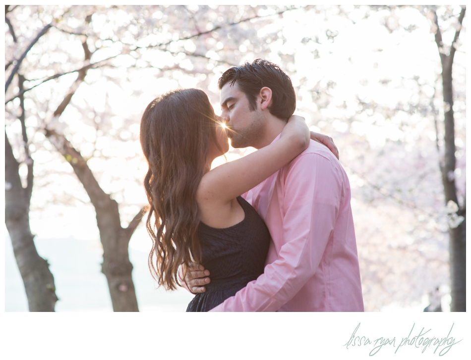 sunrise cherry blossom engagement washington dc lissa ryan photography