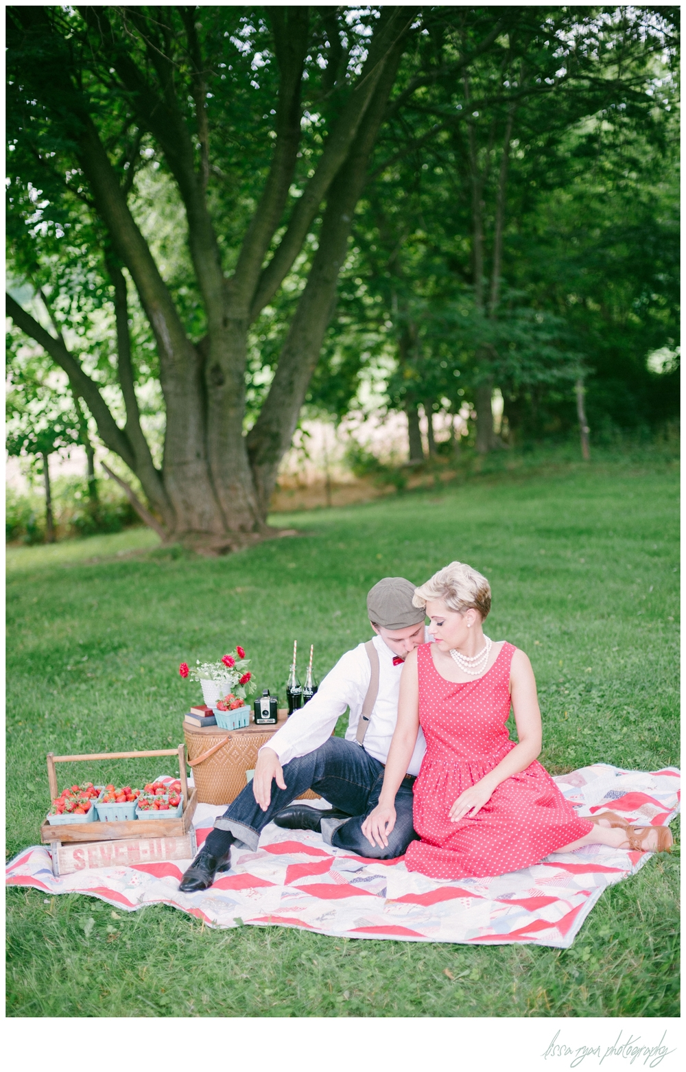 styled to shoot vintage engagement rockabilly washington dc wedding photographer Lissa Ryan Photography