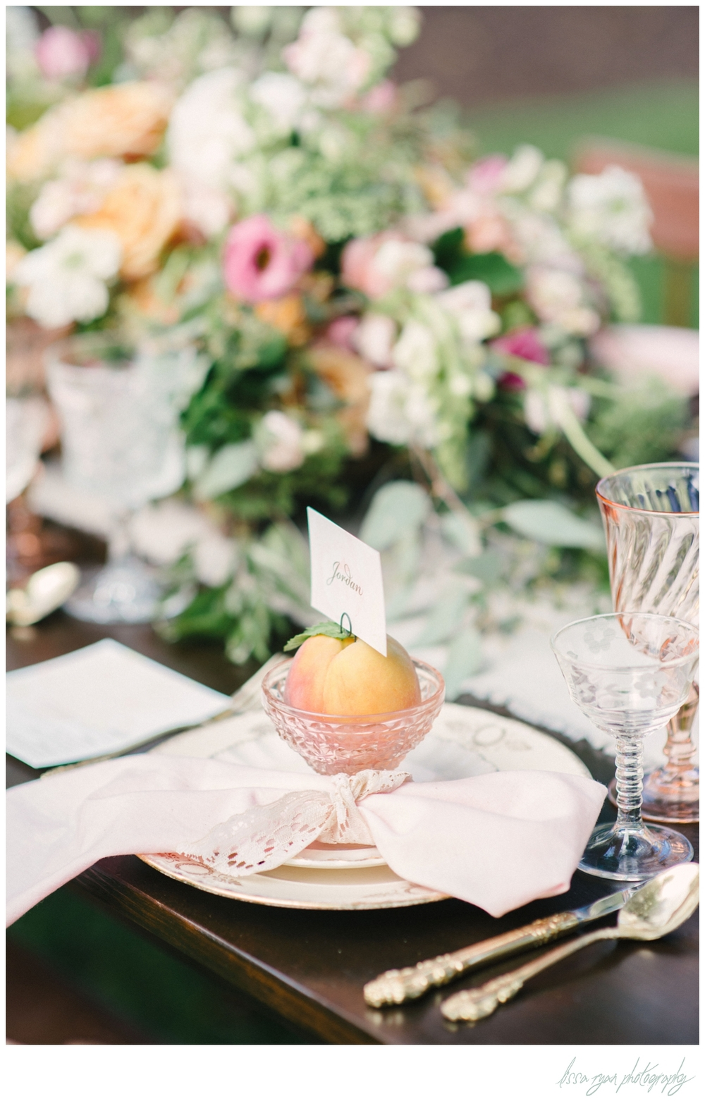 styled to shoot peach themed wedding washington dc wedding photographer Lissa Ryan Photography