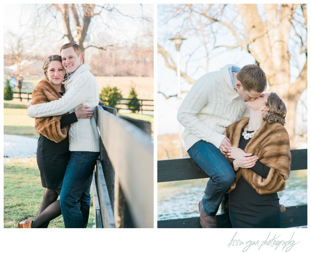 styled winter engagement session outdoor inn at vint hill washington dc engagement photographer lissa ryan photography
