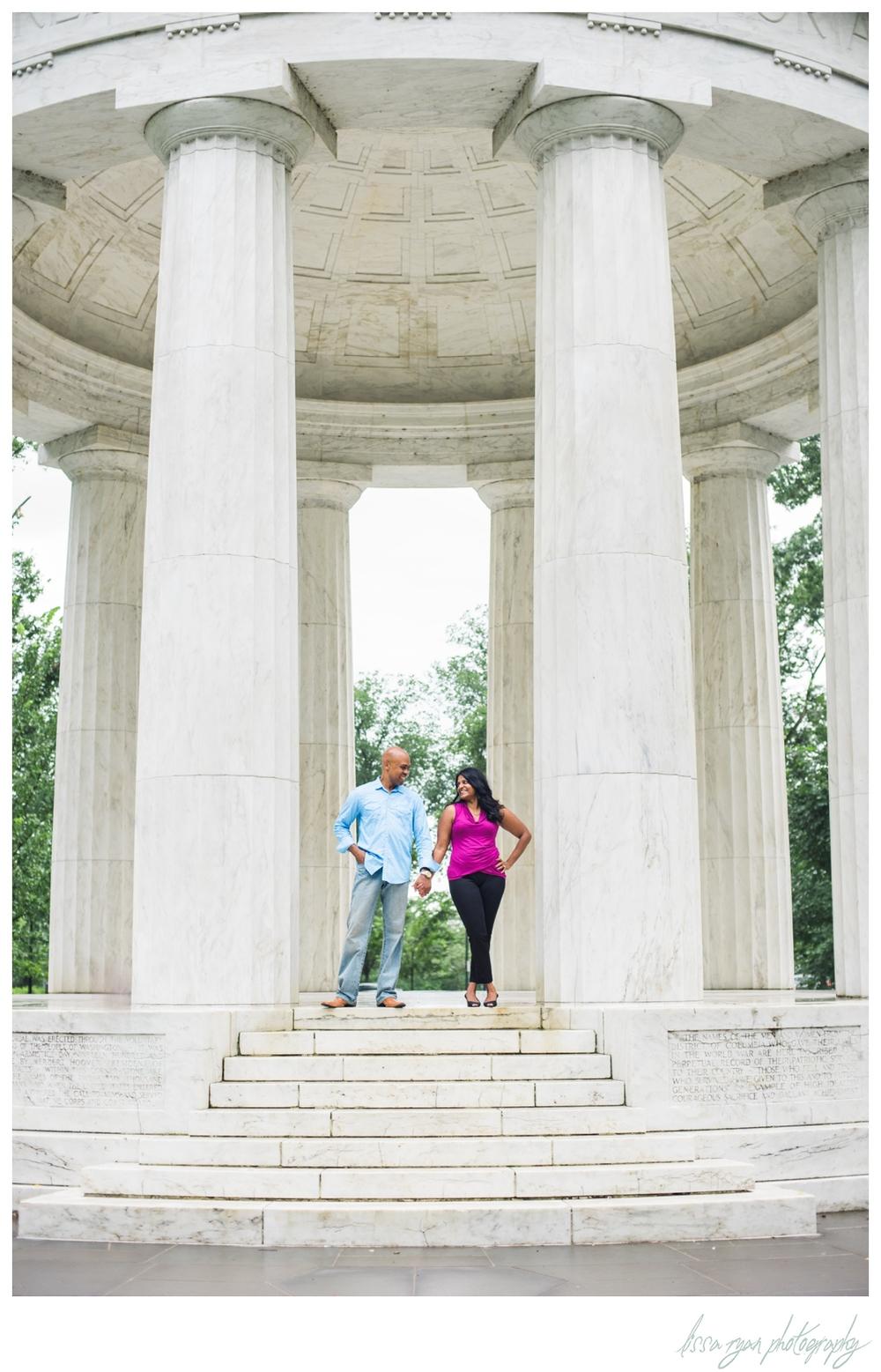 washington dc memorials engagement photographer lissa ryan photography