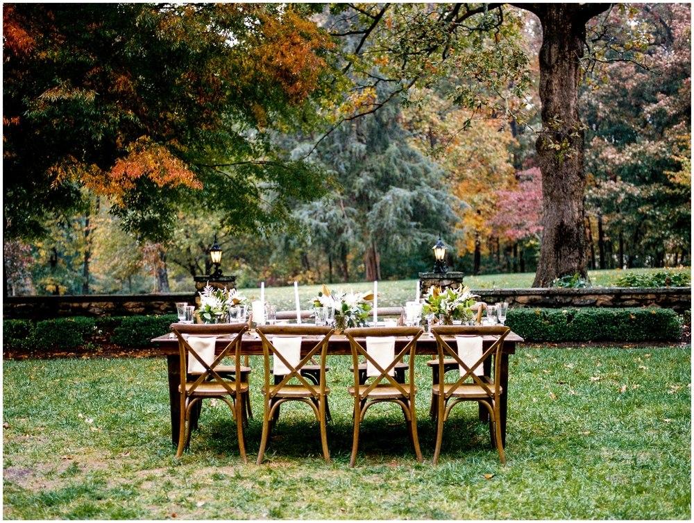 rainy autumn wedding inspiration at the graylyn estate fall north carolina washington dc wedding photographer fine art film lissa ryan photography